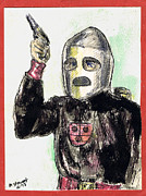 Serial Drawings Prints - Rocket Man Print by Mel Thompson