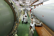 Rocket Boosters Prints - Rocket Production Facility, Russia Print by Ria Novosti