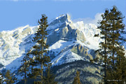 Wayne Bonney Digital Art Framed Prints - Rockies III Framed Print by Wayne Bonney