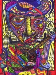Graffiti Mixed Media Metal Prints - Rockin Chair Metal Print by Robert Wolverton Jr