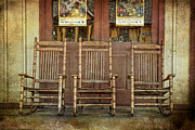 Rocking Chairs Photos - Rockin Trio by Colleen Drew