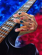 Band Painting Originals - Rocking Aces by Don Whitson