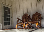 Rocking Chairs Photos - Rocking Away The Hours by Cindy Nunn