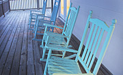 Rocking Chairs Framed Prints - Rocking  Framed Print by Cara Herbert