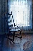 Rocker Prints - Rocking Chair by Window Print by Jill Battaglia