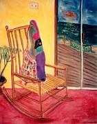 Sliding Doors Prints - Rocking Chair Print by Eliezer Sobel