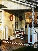 Rocking Chair On Side Porch Print by Susan Savad