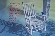 Back Porch Paintings - Rocking Chair by Tina Farney