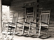 Rocking Chairs Posters - Rocking Chairs Poster by Maranda Roberts
