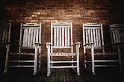 Horizontal Abstract Landscape Prints - Rocking Chairs Print by Skip Nall