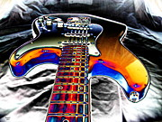 Concert Digital Art - RockN Guitar by Jason Leader