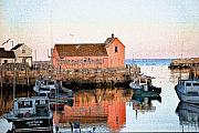 Rockport Metal Prints - Rockport 1 Metal Print by Edward Sobuta
