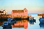 Rockport  Ma Framed Prints - Rockport at Sunset Framed Print by Edward Sobuta