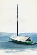 Massachusetts Coast Paintings - Rockport Boat Study by Paul Gaj
