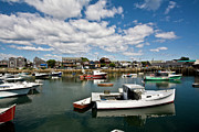 Rockport  Ma Framed Prints - Rockport Boats Framed Print by Warren Carrington