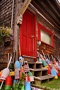 Clapboard House Posters - Rockport Buoys Poster by Joann Vitali