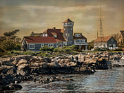 Rockport  Ma Framed Prints - Rockport Coast Framed Print by Robin-lee Vieira