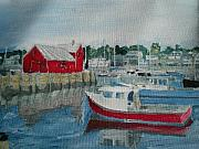 Rockport  Ma Paintings - Rockport by David Poyant
