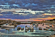 New England Sunset Posters - Rockport Dusk Poster by Joann Vitali
