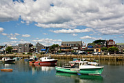 Rockport  Ma Framed Prints - Rockport Green Framed Print by Warren Carrington