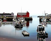 Motif 1 Posters - Rockport Harbor Poster by Dale   Ford