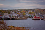 Boats In Harbor Posters - Rockport Harbor Poster by Tom Singleton