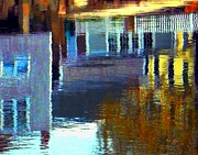 Reflections In Water Prints - Rockport Reflections Print by Dale Ford