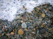 Seafoam Prints - Rocks and Pebbles Print by Stephanie Troxell