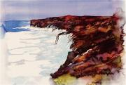 Beach Tapestries - Textiles - Rocks and Sea Ice by Carolyn Doe