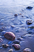 Pebbles. Prints - Rocks in water Print by Elena Elisseeva