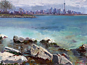 Ontario Paintings - Rocks n the City by Ylli Haruni