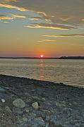 Maine Shore Originals - Rocks Watch the Sunset by Faith Harron Boudreau