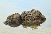 Inner Harmony Prints - Rocks with reflection Print by Rudy Umans