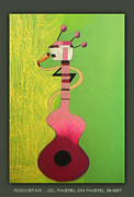 Abstract Music Pastels - Rockstar  by Sanjeev Babbar