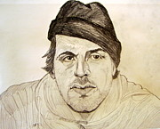 Action Drawings Originals - Rocky Balboa Sylvester Stallone by Donald William
