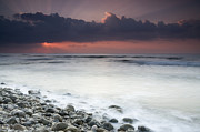 Rocky Beach At Sunrise Hawf Protected Print by Sebastian Kennerknecht