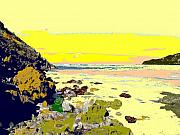 West Indies Digital Art Prints - Rocky Beach Print by Ian  MacDonald