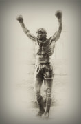Boxer Digital Art Metal Prints - Rocky Metal Print by Bill Cannon