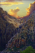 Las Vegas Art Mixed Media Posters - Rocky Canyon Poster by Maria Eames