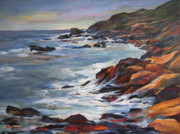 Maine Paintings - Rocky Coast by Patricia Maguire