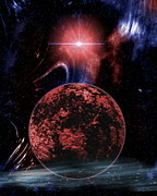 Rocky Extrasolar Planet Print by Victor Habbick Visions