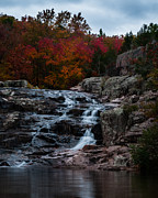 Missouri Photos - Rocky Falls by Clayton Swatzell