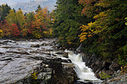 White Mountains New Hampshire Posters - Rocky Gorge Waterfall  - D006354 Poster by Daniel Dempster