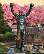 Philadelphia Metal Prints - Rocky In Spring Metal Print by Bill Cannon