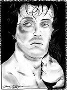 Boxing Drawings - Rocky by Jason Kasper