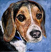 Dog Paintings - Rocky by Mary-Lee Sanders