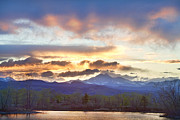 Longs Peak Photos - Rocky Mountain April Springtime Sunset  by James Bo Insogna