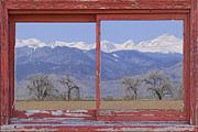 Bo Insogna Framed Prints - Rocky Mountain Front Range Red Picture Window Frame Photo Art Framed Print by James Bo Insogna