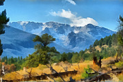 Rocky Digital Art - Rocky Mountain National Park by Ernie Echols