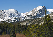 Colorado Mountains Framed Prints - Rocky Mountain National Park Vista showing Hallet Peak on right Framed Print by Brendan Reals
